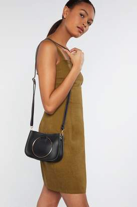 Nasty Gal WANT Handle Your Business Crossbody Saddle Bag