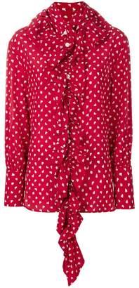 Marni patterned ruffle blouse