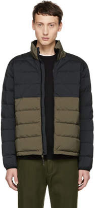 Rag & Bone Black and Green Packable Down Jacket