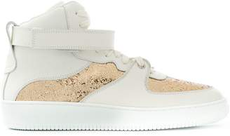 RED Valentino embellished hi-top sneakers