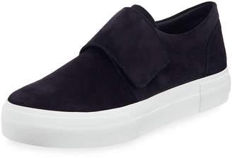 Vince Cage Suede Grip-Strap Platform Sneakers