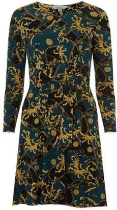 Dorothy Perkins Womens Petite Scarf Print Dress
