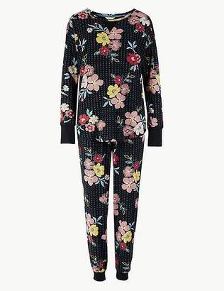 Marks and Spencer Cotton Rich Floral Print Pyjama Set