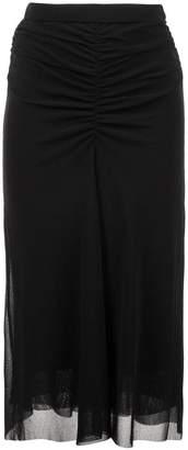 Fuzzi draped pencil skirt