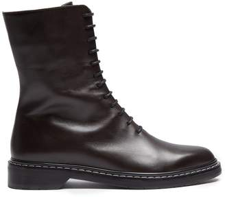 The Row Fara lace-up leather boots