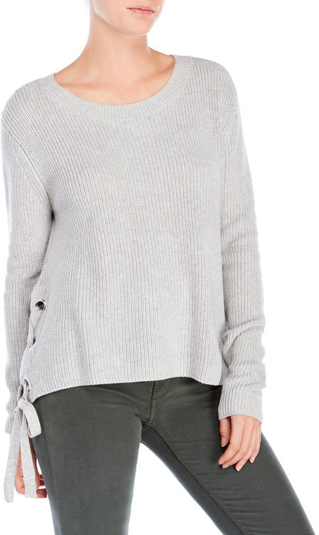 mono b Lace-Up Sides Sweater
