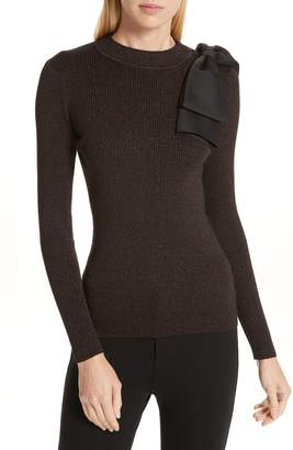 Ted Baker Lizziia Bow Trim Shimmer Sweater