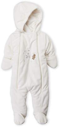R & E Baby Dove (Newborn Boys) White Bear Hooded Pram