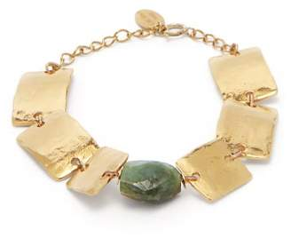 Elise Tsikis - Thira Emerald Gold Plated Bracelet - Womens - Gold