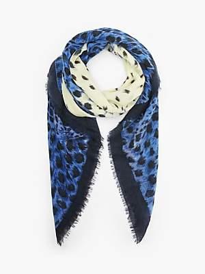 Becksöndergaard Coyle Leopard Print Scarf, Blue