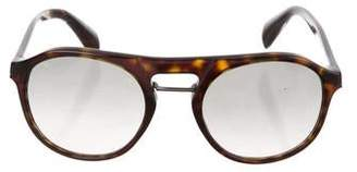 Prada Tortoiseshell Aviator Sunglasses