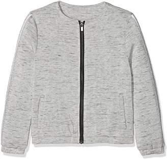Name It Girl's Nkflumia Bru SWE Card Sweat Jacket,(Manufacturer Size: 134)