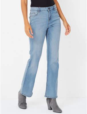 Light Wash Slim Bootcut Jeans