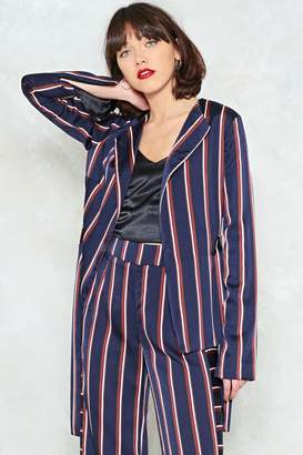 Nasty Gal Set the Record Straight Belted Blazer