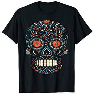 Dia de los Muertos Halloween Custome Funny Skull Tshirts