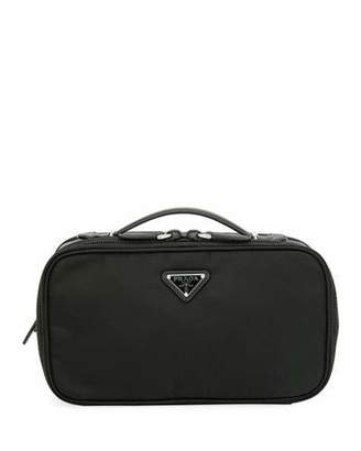 Prada Small Nylon Beauty Bag With Contrast Lining