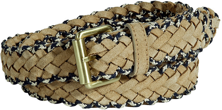 Marc Jacobs Sand and Blue Suede Belt