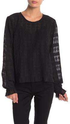Lucky Brand Lace Long Sleeve Blouse