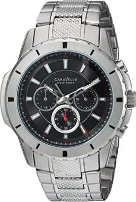 Caravelle New York Men's Analog-Quartz Watch with Stainless-Steel Strap