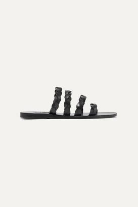 Ancient Greek Sandals Kynthia Braided Leather Sandals - Black