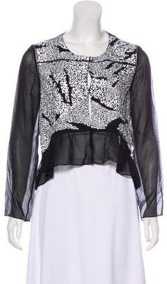Thakoon Silk Sequined Blouse
