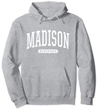 Madison Hoodie Sweatshirt College University Style WI USA