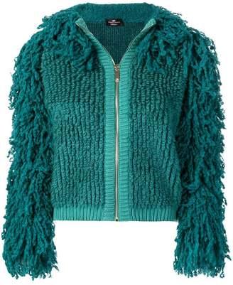 Elisabetta Franchi shaggy jacket