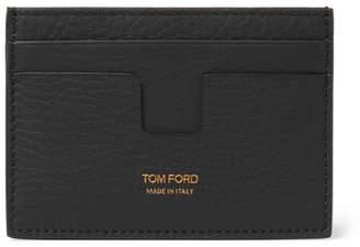 Tom Ford Full-Grain Leather Cardholder - Men - Black