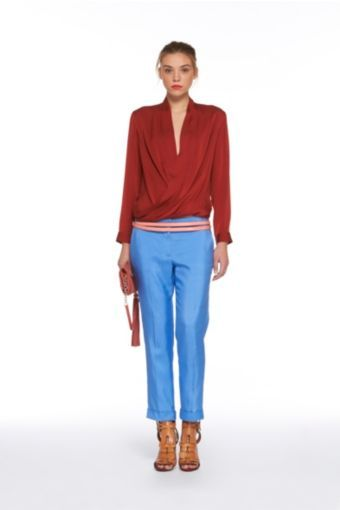 Georginne Cuff Pants in Cornflower