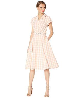 Unique Vintage Gingham Shirtdress