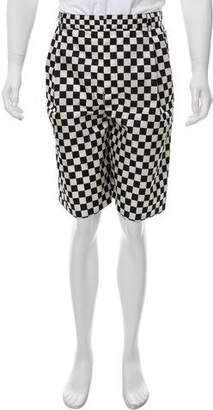 Givenchy Checkered Flat Front Shorts w/ Tags