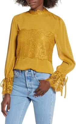 Moon River Lace Panel Blouse