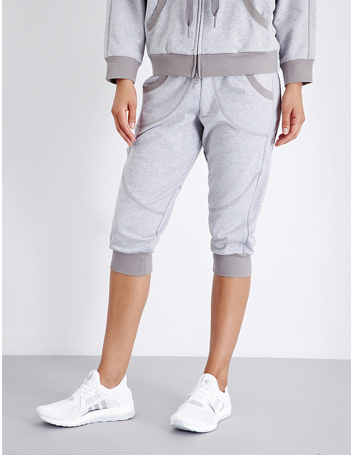 ADIDAS BY STELLA MCCARTNEY Essentials cropped jersey jogging bottoms