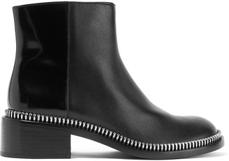 Marc by Marc Jacobs Zip-embellished leather ankle boots $840 thestylecure.com