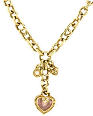 Judith Ripka 18K Diamond & Quartz Romance Pendant Necklace