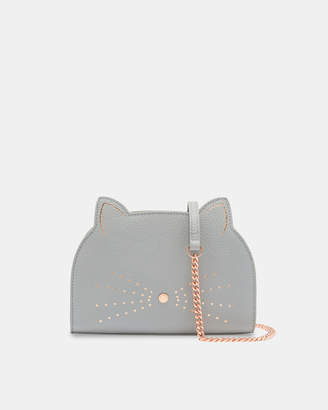 At Ted Baker Kirstie Cross Body Leather Cat Bag