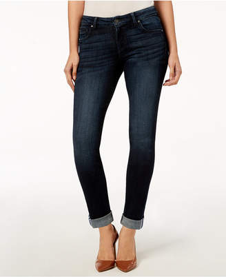 KUT from the Kloth Catherine with Ribbon-Contrast Hem Boyfriend Jeans