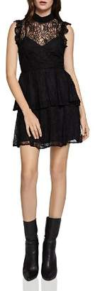 BCBGeneration Tiered Lace Dress