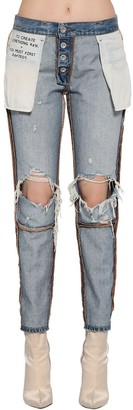 Unravel Inside Out Reversible Cotton Denim Jeans
