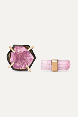 Melissa Joy Manning 14-karat Gold Tourmaline Earrings