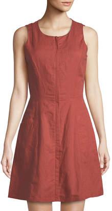 Theory Bonza Rotuma Zip-Front Dress