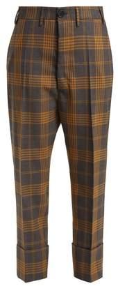 Vivienne Westwood Tartan Wool Trousers - Womens - Grey