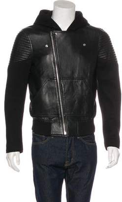 Givenchy Zip-Accented Lambskin Jacket