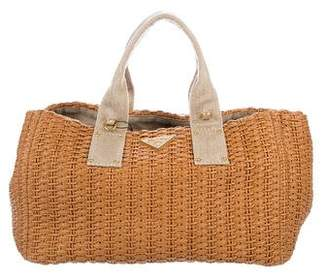Prada Straw Shopping Tote