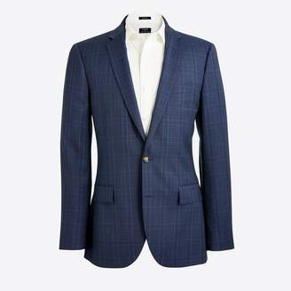 J.Crew Thompson suit jacket in glen plaid worsted wool