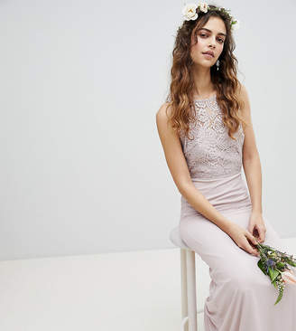 TFNC Lace Up Back Maxi Bridesmaid Dress