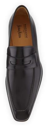 Magnanni Walden Leather Slip-On Loafer, Black