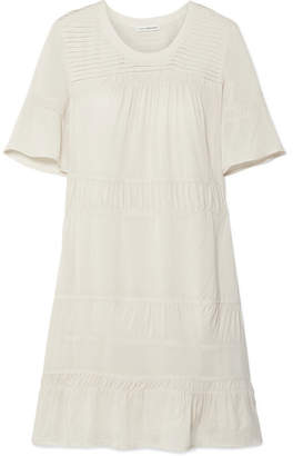 James Perse Ruched Voile Mini Dress - Ivory