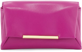 B Brian Atwood Jasmine Leather Clutch Bag, Pink/Berry $125 thestylecure.com