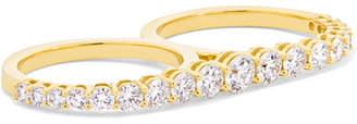 Melissa Kaye - Aria 18-karat Gold Diamond Two-finger Ring